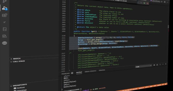 Editing PHP